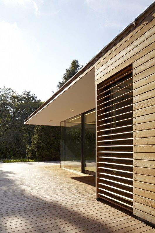 MOOSMANN | Haus Hainbach; #timber cladding and louvres