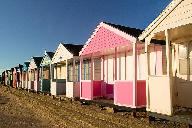 Southwold Beach Huts, Suffolk coast. The British Seaside - you can't beat it!