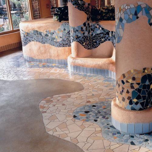 Broken Tile Mosaic Floors | ... Tiles, Environmentally Friendly Tiles, 4x8  Tile