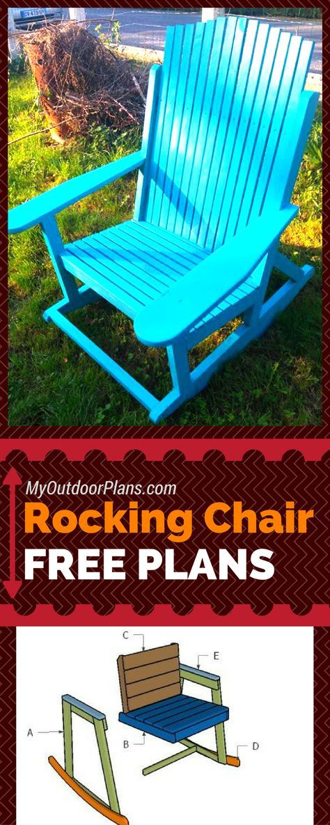 Build a rocking chair using my free plans! Step by step instructions and free rocking chair plans! #diy myoutdoorplans.com