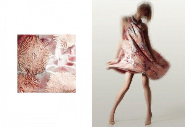 Minidress rosa con stampa
