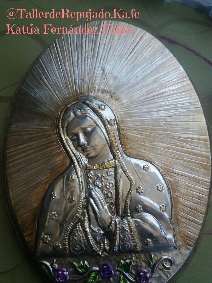 Taller de Repujado Ka-Fe Retablo Virgen de Guadalupe