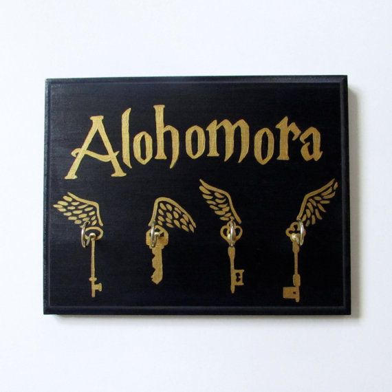 Hand Painted Harry Potter Alohomora Key Holder