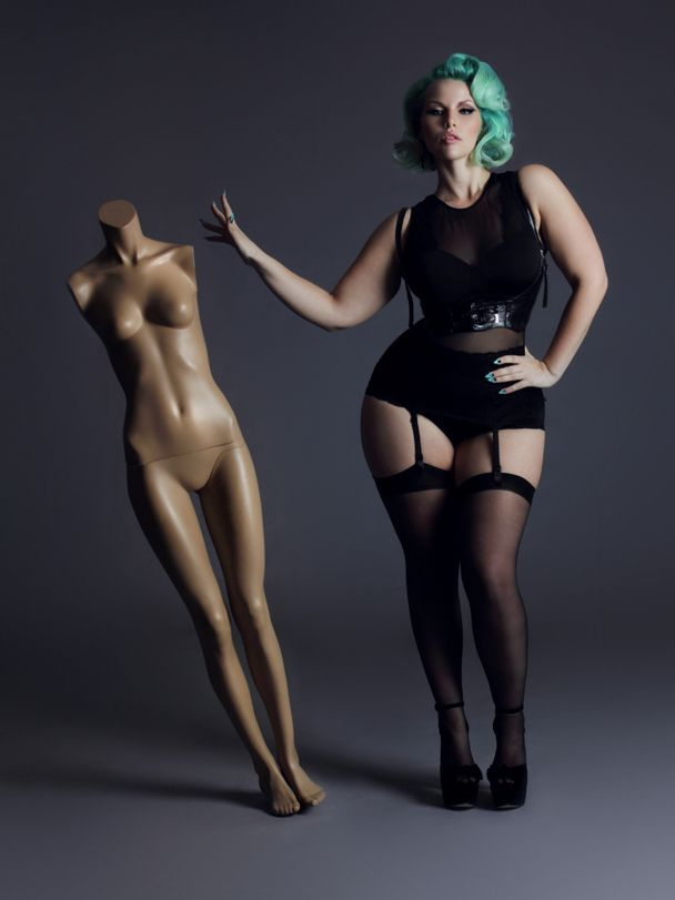 Elly Mayday, Canadian plus size model. WOW!! She has some serious curves. Like the concept of the pic though.