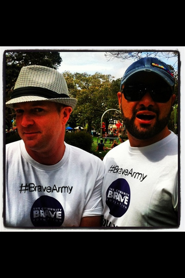 Angelo and Ray Ray out in force with the #BraveArmy