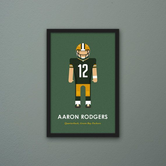 Aaron Rodgers Minimal Poster by PortlySportsman on Etsy