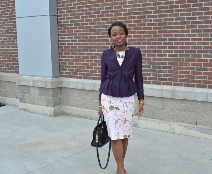 Peplum Jacket + Floral Dress