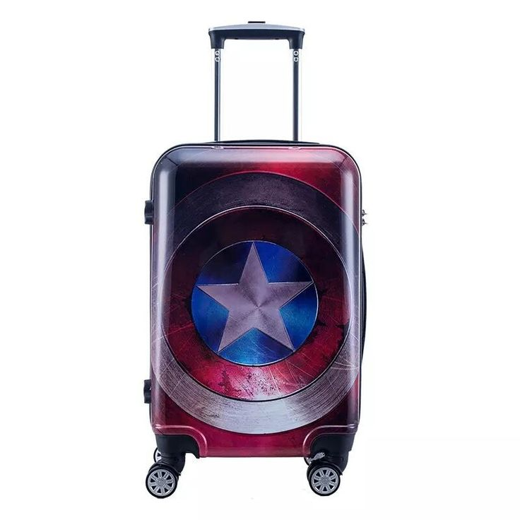 20/24inch cool anime Captain America boy trolley case Travel luggage Iron Man rolling suitcase Spider-Man business Boarding box