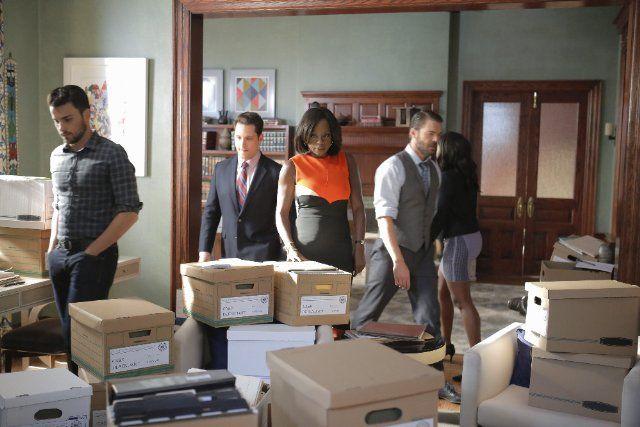 Viola Davis, Charlie Weber, Matt McGorry, Aja Naomi King, and Jack Falahee in How to Get Away with Murder (2014)