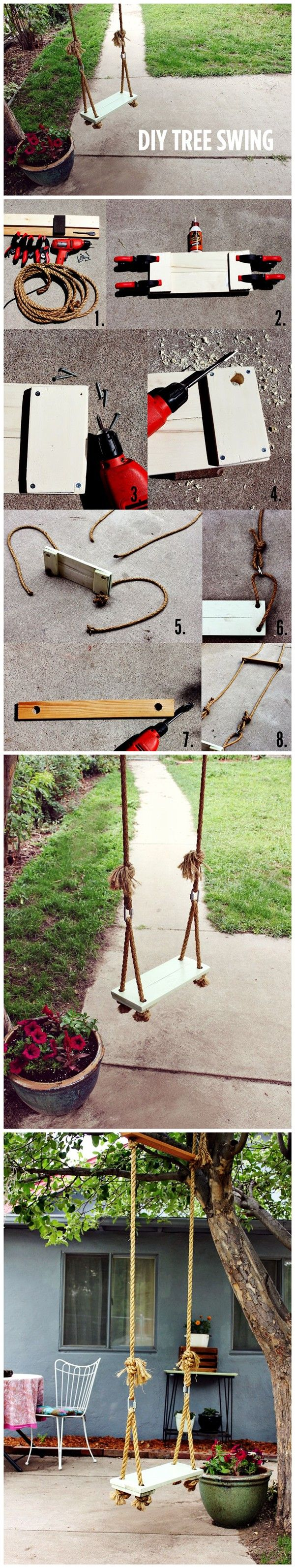 How to build a tree swing -  Diy Tree Swing Tutorial