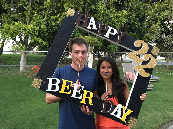Photo booth beer party!!   #props #beerparty #photobooth