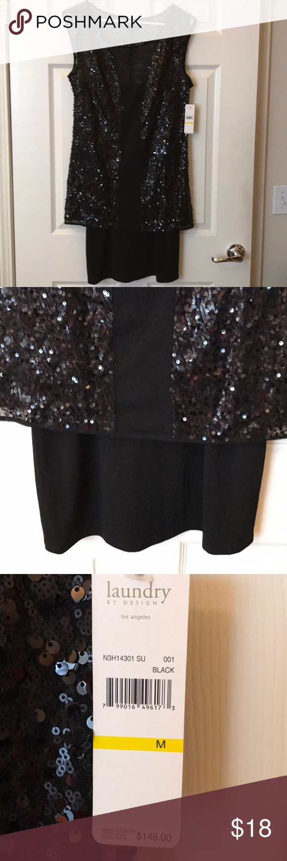 Laundry dress Brand new with tags size medium sequin/sheer gorgeous dress. Laundry by Design Dresses