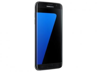 """Smartphone Samsung Galaxy S7 Edge 32GB Preto 4G - Câm. 12MP + Selfie 5MP Tela 5.5"""" Desbl. Tim com as melhores condições você encontra no Magazine Raimundogarcia. Confira!"""