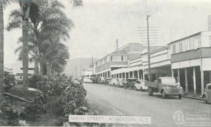 Main street, Atherton, c1945.