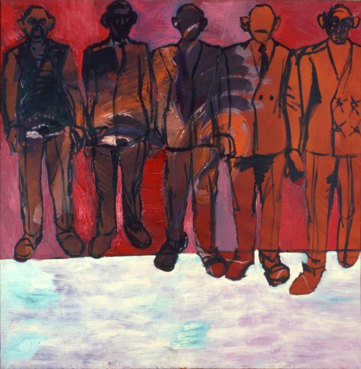 """""""Stoja rzedem"""" by Marek Sobczyk, done in 1979/80, courtesy Dr. Osman Djajadisastra http://contemporarylynx.co.uk/?p=599"""