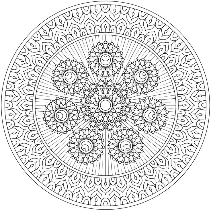 5226 best Printable Mandalas images on Pinterest Coloring books - copy extreme mandala coloring pages