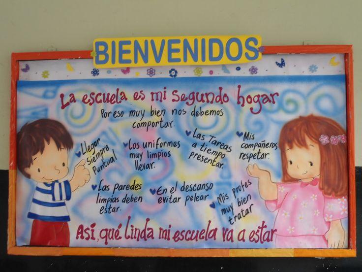 Cartelera de bienvenida al nuevo a o escolar imagui for Ejemplo de una editorial de un periodico mural