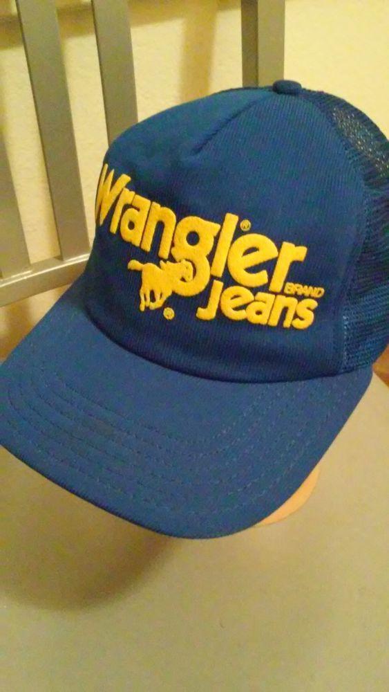 1e0ff5651 Vintage Wrangler JeansTrucker HatCap Hat Mesh Snapback Blue #fashion ...