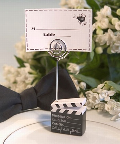 movie themed engagement party | Movie Theme Party Favors Place Card Holder