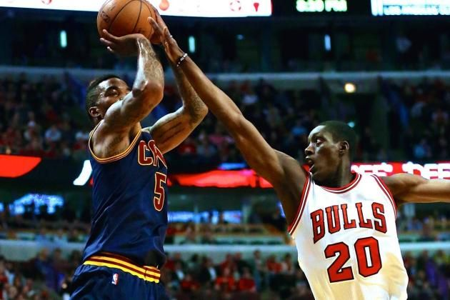 May 14, 2015 - Cleveland Cavaliers vs. Chicago Bulls: Game 6 - 2015 NBA Playoffs. Cavaliers beat Bulls 94-73. It wasn't James or Irving, but the combination of Matthew Dellavedova, J.R. Smith, Iman Shumpert and Tristan Thompson that ultimately did in the Bulls. Thompson finished with 13 points and 17 rebounds, Dellavedova put the Cavs on his back in the second half and scored a team-high 19 points overall, and Shumpert and Smith combined for five critical three pointers. A great game.