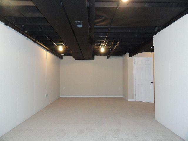... Unfinished Basement Ceiling Paint