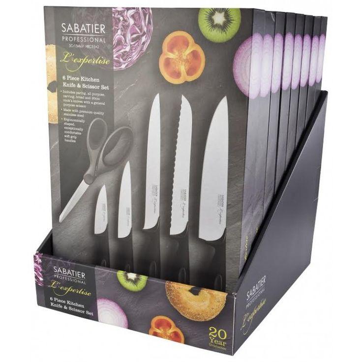 Σετ 5 μαχαιριών  με ψαλίδι - SABPRBS1 - Sabatier