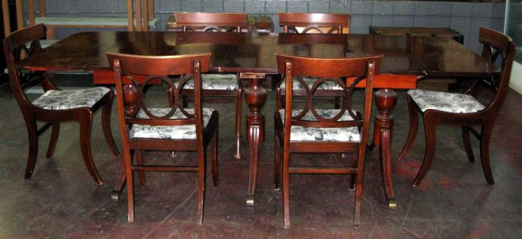Lot #152 - MAHOGANY DUNCAN PHYFE DINING SET | www.mclarenauction.com - Proxibid Auctions