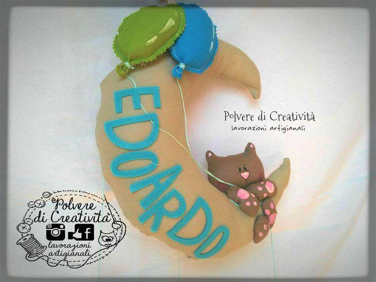 Fiocco Nascita Handmade, by Polvere di Creatività - lavorazioni artigianali, 35,00 € su misshobby.com