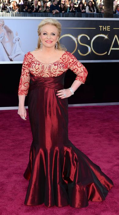 Jacki Weaver (Best Supporting Actress nominee) - February 24, 2013 – 85th annual Academy Awards – Hollywood, California - another worst of the worst, was she wearing CURTAINS ? ?