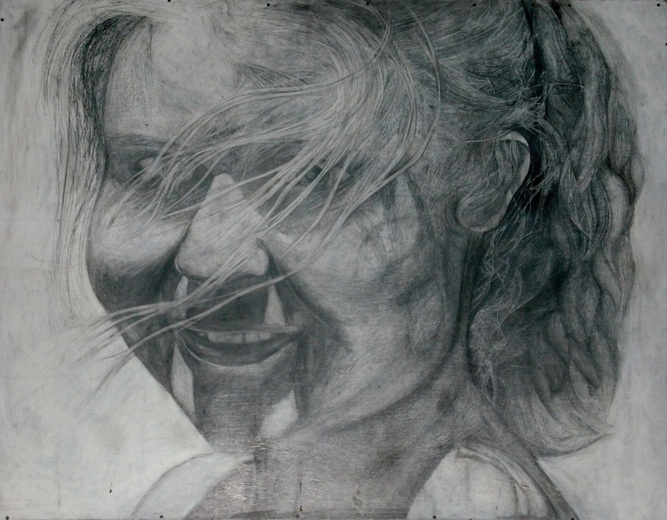Pencil on board with an acrylic wash. By Stacey Rumble