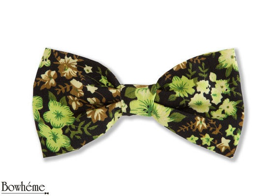 Floral Ready Tied Bow Tie-Womens  ZETA #bowtie #bow #tie #floralbow #fashion #womens . by Bowheme on Etsy, $9.00 Also check out self tied ZETA: https://www.etsy.com/listing/151780260/self-tied-bow-tie-floral-zeta-also?ref=shop_home_active