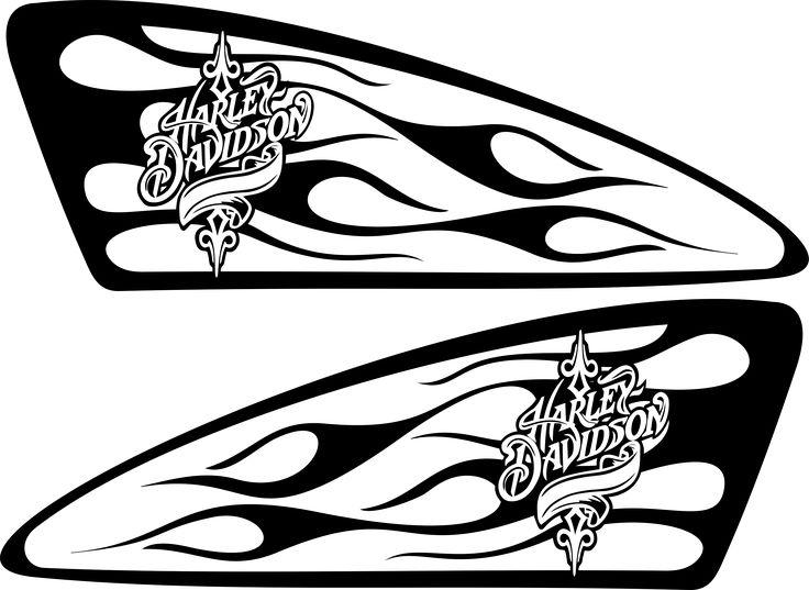 Harley Decals Airbrush Gas Tank Stencils Vinyl Harley
