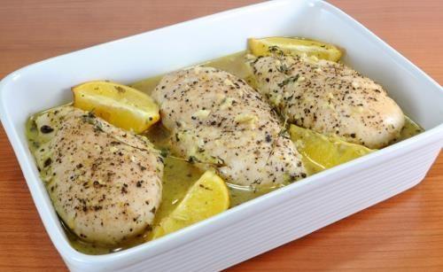 Peito de frango com limão e tomilho