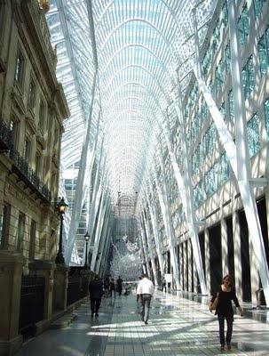 Brookfield place Toronto. Really cool! Great place to eat called the Marche (1996)