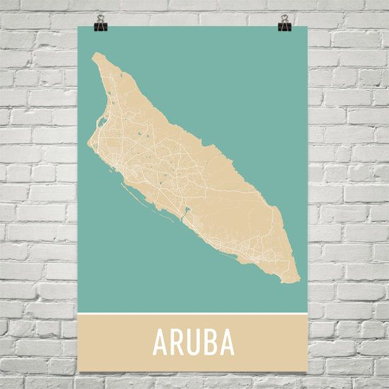 Aruba Map Art Print, Aruba Art Poster, Aruba Wall Art, Aruba Gift, Map of Aruba, Aruba Print, Aruba Poster, Birthday, Decor, Modern, Art