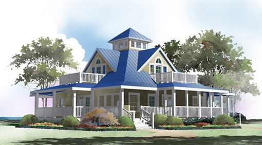 Wrap around porch dream home pinterest for Beach house designs with wrap around porch