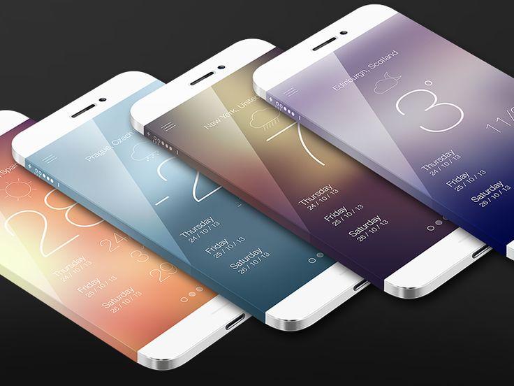 iPhone Weather App - by Greg Dlubacz   #ui