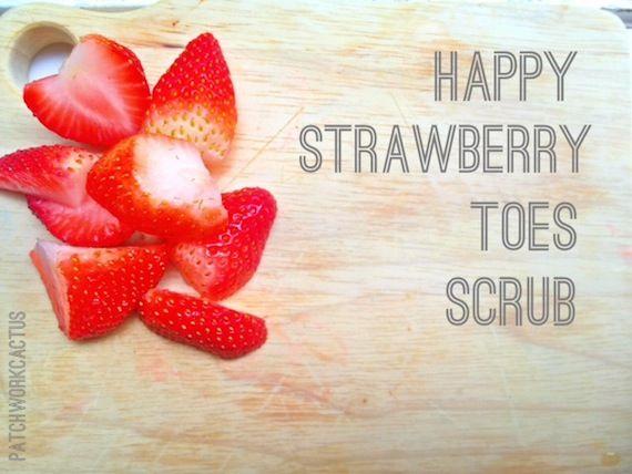 Strawberry DIY Foot Scrub  DIYs for Summer Feet, Hair  Skin
