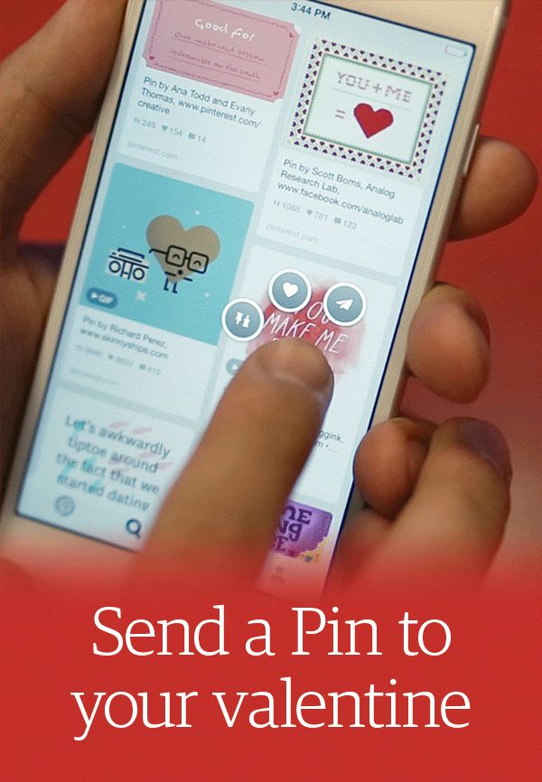 Pin Tip: Click the paper airplane at the top of any Pin to send it their way. Or if you're on your phone, just press and hold on whatever Pin you want to send.
