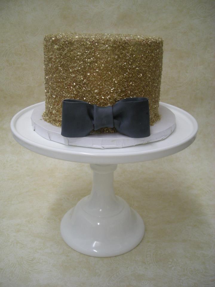 Gold Sparkles Black Bow Tie Cake Cake Cake Cake In 2019