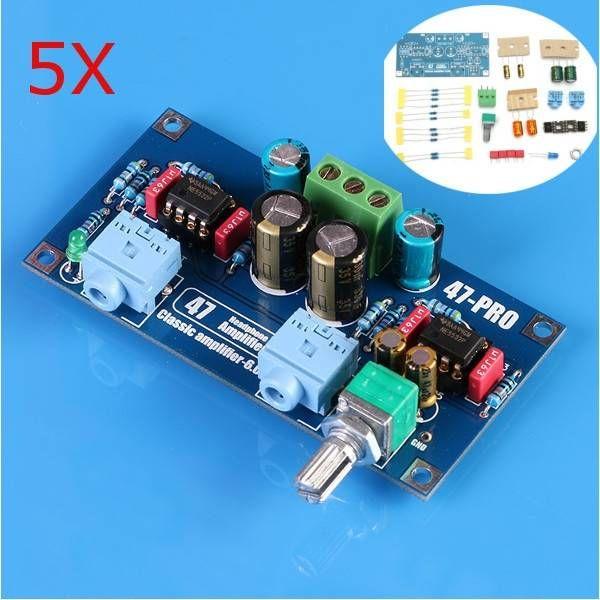 5Pcs 47 AMP 6V Classic Power Earphone Amplifier PCB DIY Electronic Kit