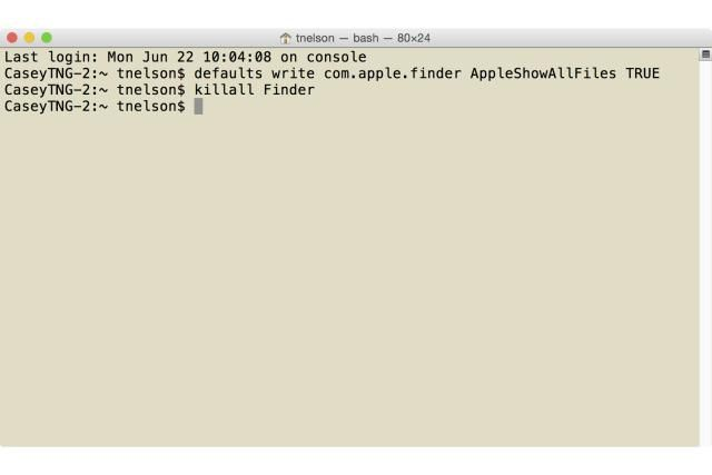 How to Use Terminal to View Hidden Folders