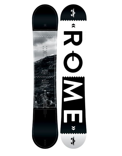 2015 Rome Agent Rocker Snowboard 155cm is the real deal.  Rome never strays from what they do better than any other brand