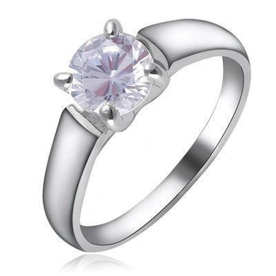 Австрийские Кристаллы Классический Обручальные Кольца Свадебные Подражали Алмаз Полые Кольцо ЮТ СОБОЙ R811