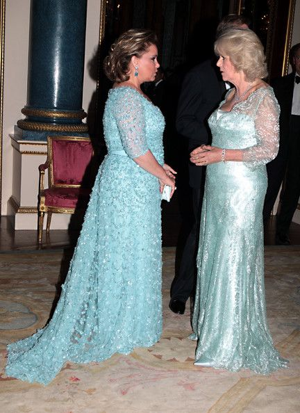 Grand Duchess Maria Teresa Of Luxembourg - Attend Dinner to Commemorate the Diamond Jubilee