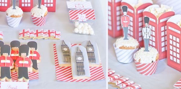 cute london themed party. @Sydnie Simpson immedietly thought of you