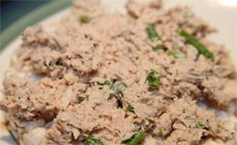 Receita de pasta de atum ou frango para rechear sanduíches light.