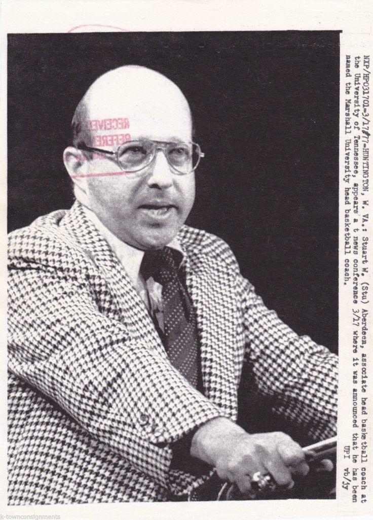 STU ABERDEEN UNIVERSITY OF TENNESSEE NCAA BASKETBALL COACH 1970s PRESS PHOTO