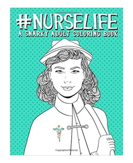 Nurselife Adult Coloring Book | National Nurse Week Gift Ideas - for nurse, doctor, graduation #christmas #nursing