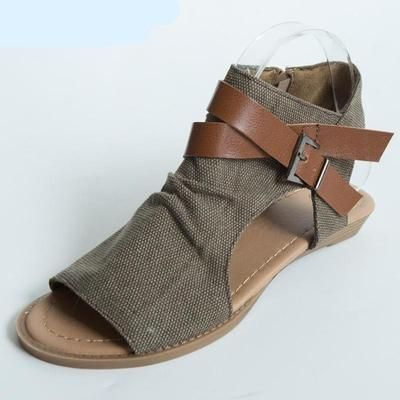 a82217cff7fc Cleopatra - Womens Vegan Gladiator Canvas Sandals in 2019